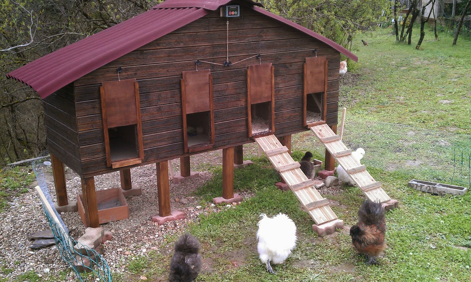 Les poules des Boubous: Nouveau poulailler 4 compartiments ...