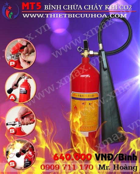 Bình cứu hỏa khí co2 mt5 5kg