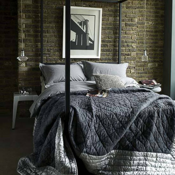 Industrial Chic Bedroom Bed Lighting Decor Design Frog Hill Designs Blog