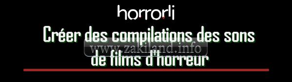 Créer des compilations des sons de films d'horreur