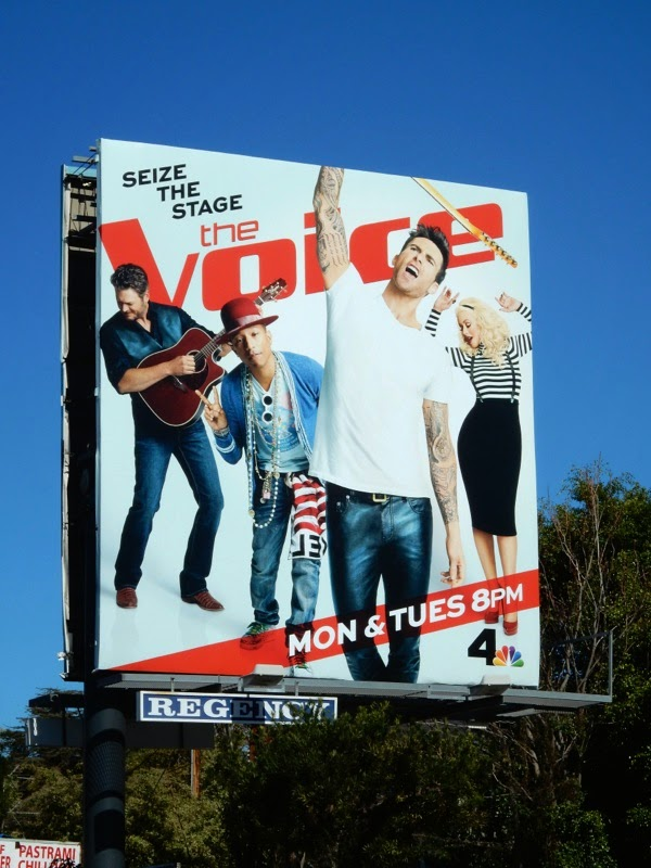 Voice season 8 Adam Levine billboard