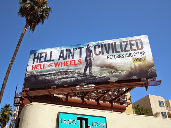 Hell on Wheels season 4 billboard