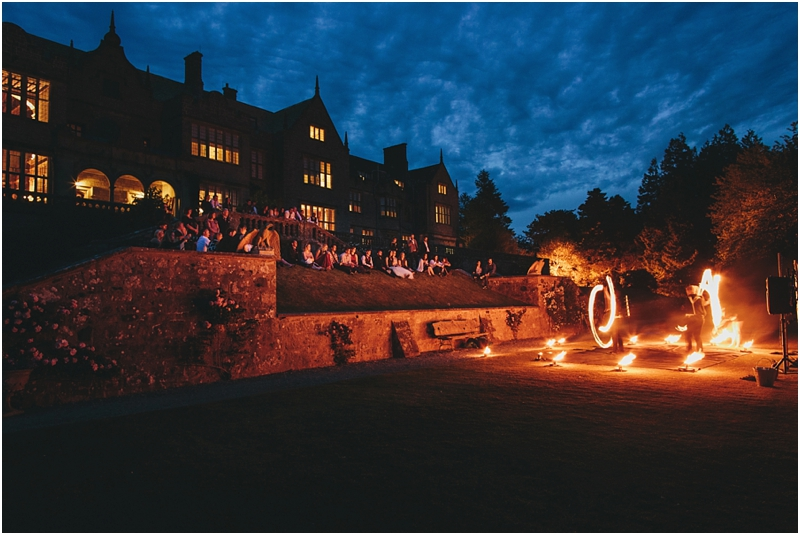 Fire performers at Bovey Castle