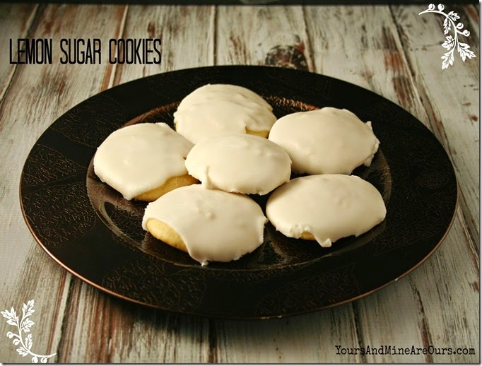 Iced Lemon Sugar Cookies | by Yours And Mine Are Ours