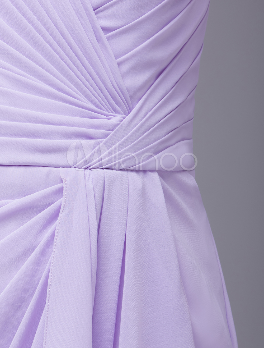 China Wholesale Clothes - Light Purple V-Neck Ruched Chiffon Mother of the Bride Dress