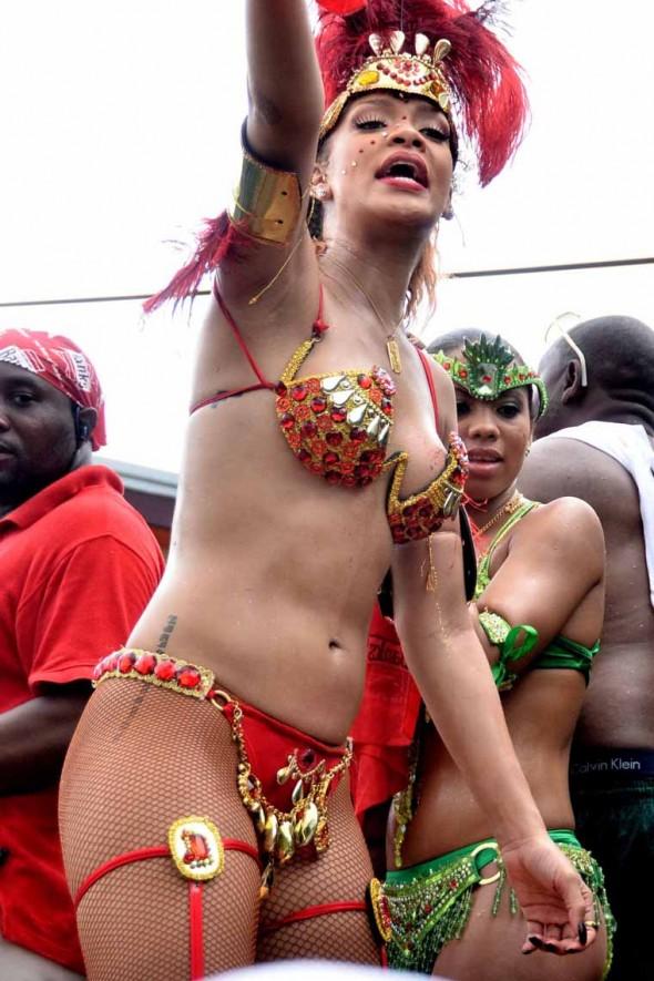 rihana in red bikini