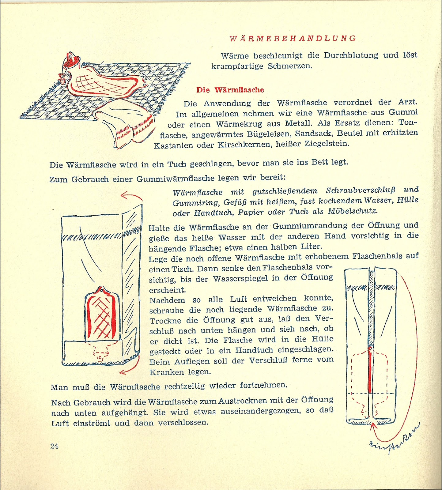 The Hausfrau Journal: Red Cross nursing tips from 1955
