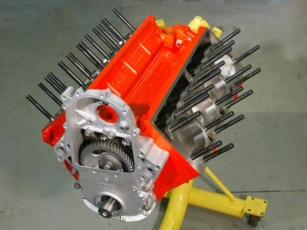 The Engine With ARP Cylinder Head Sztuds Installed