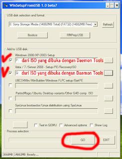 Gambar 12 Cara Membuat Dual Bootable Flashdisk untuk Win XP dan Win 7 atau Win 8