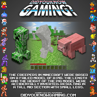 minecraft creepers fact Random Game Facts   Minecraft Creepers = Minecraft Pigs?