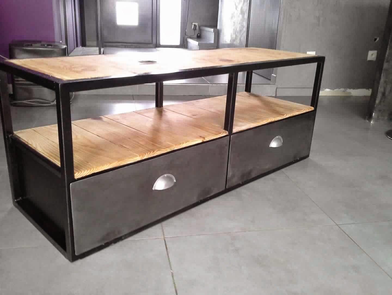 meuble tv industriel | meuble décoration maison