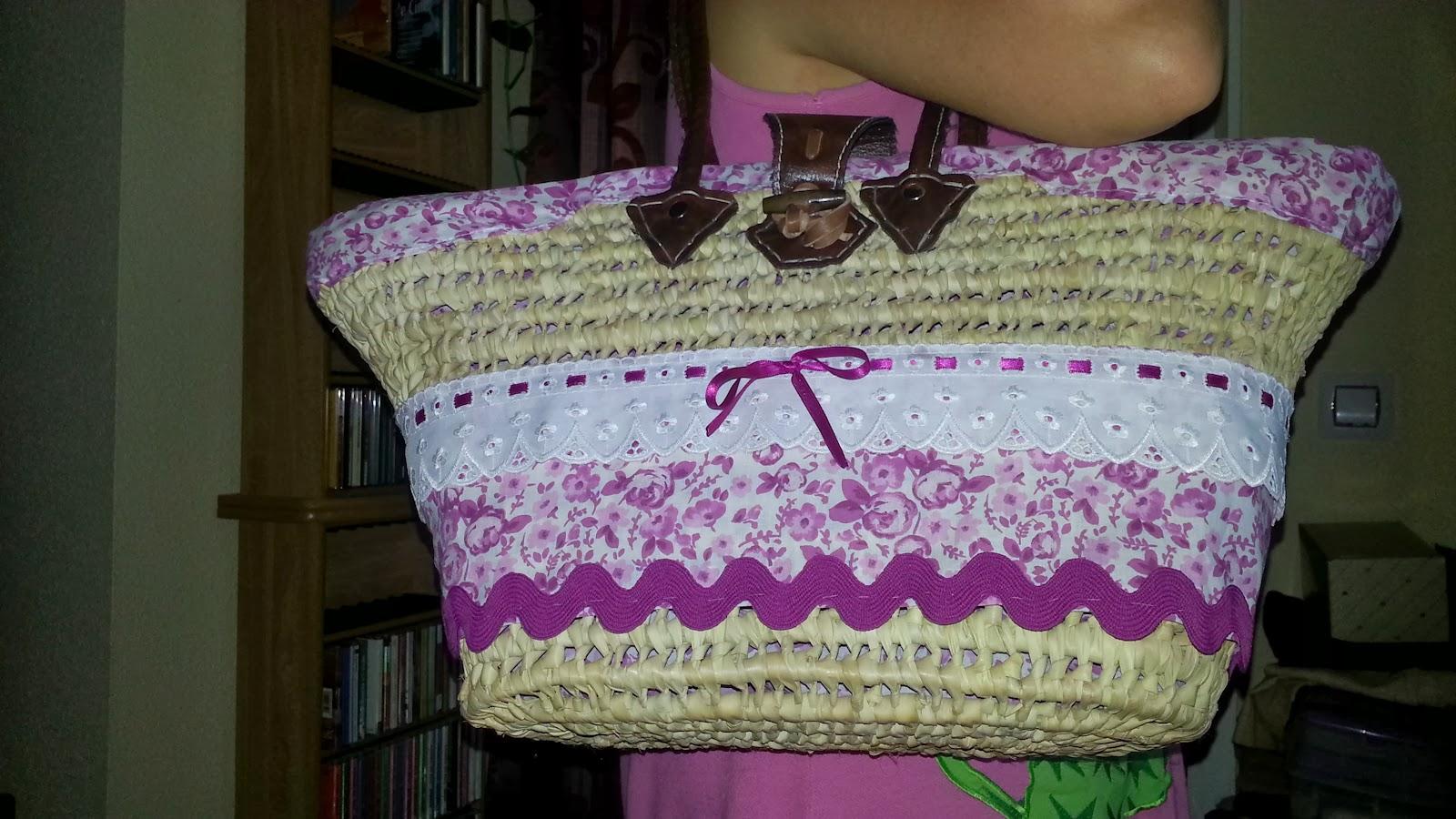 Retoke costura creativa cestos de playa con retoke - Reciclar cestas de mimbre ...