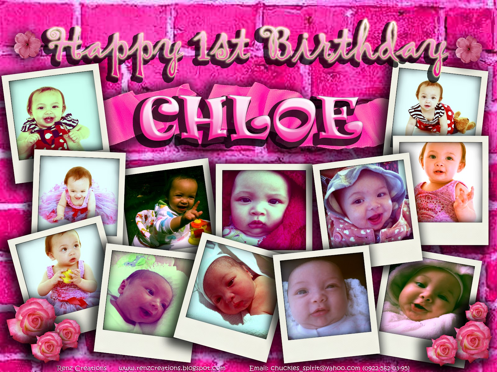 Renz Creations Invitations And Giveaways Chloe Birthday Tarp