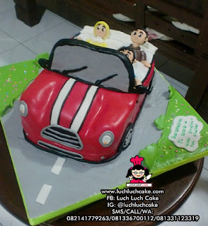 3d Mobil Mini Copper Birthday Cake (REPET ORDER)