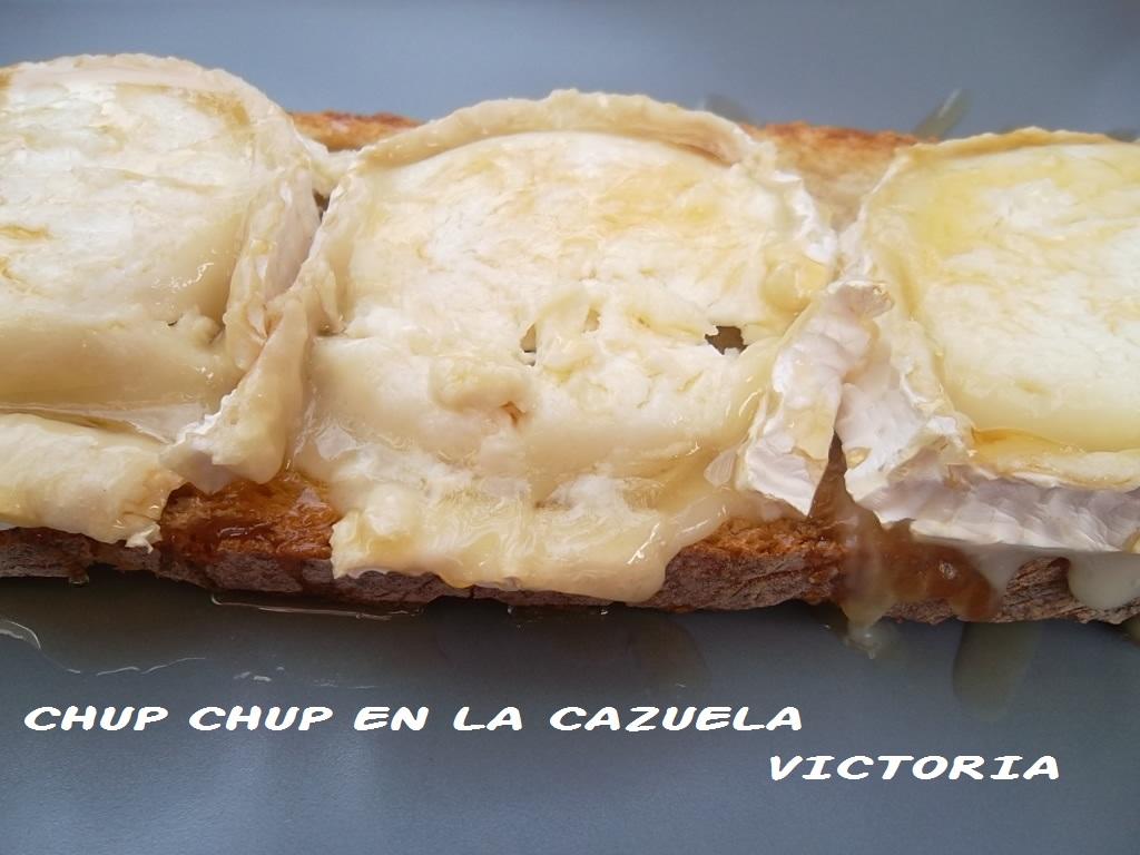 Chup chup en la cazuela torrada con queso de cabra y miel - Queso de cabra y colesterol ...