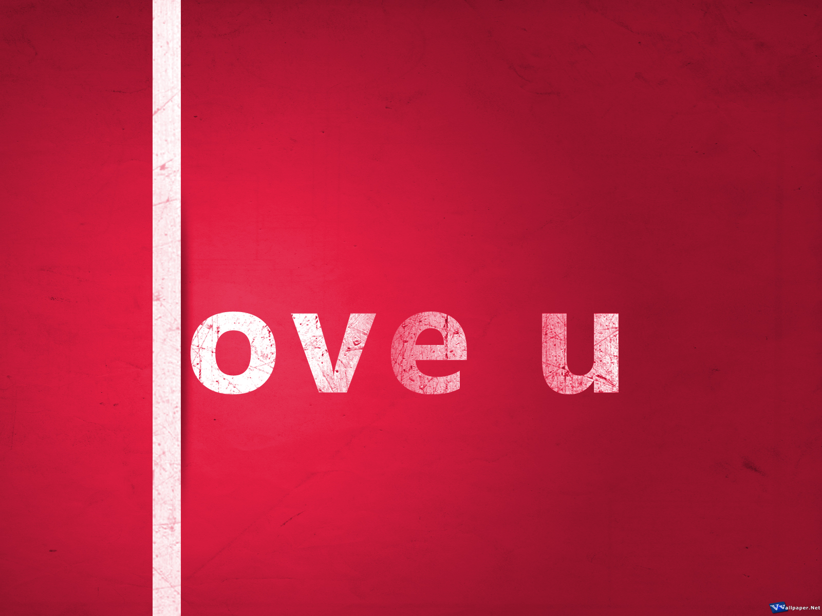 Love U All Wallpaper : Love U colorful Typography Wallpaper:Papel de Parede e Imagens para Pc