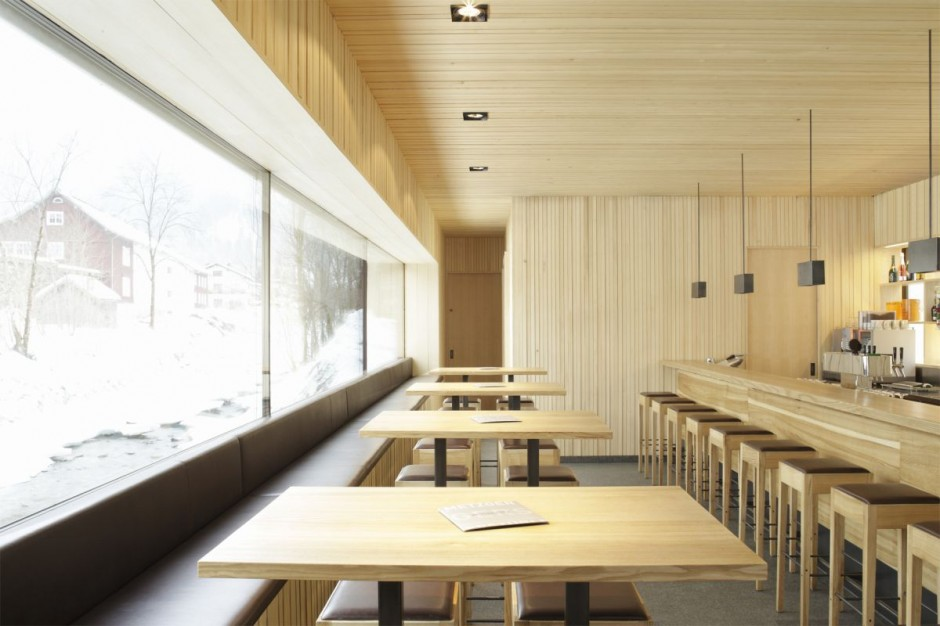 Best Restaurant Interior Design Ideas: Bar-cafe wood decor, Austria