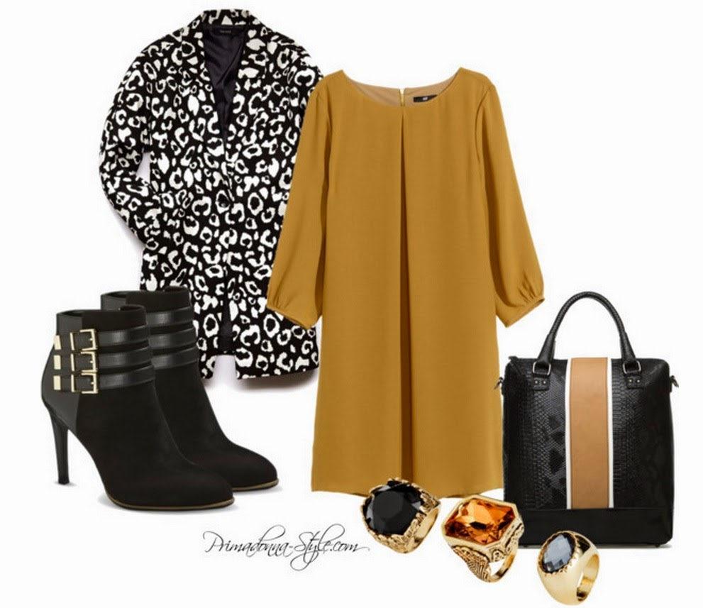 Sam & Libby for Target Anya Heeled Shootie Ankle boots bootie H&M Short Dress in Mustard Wild Thing Leopard Trench Coat Kyoto Hanbag Shoedazzle
