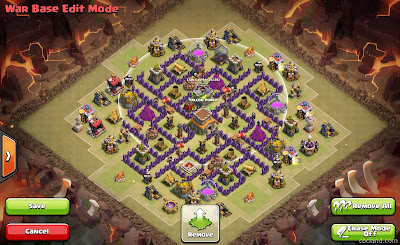Base Clash of Clans untuk Th 8 update