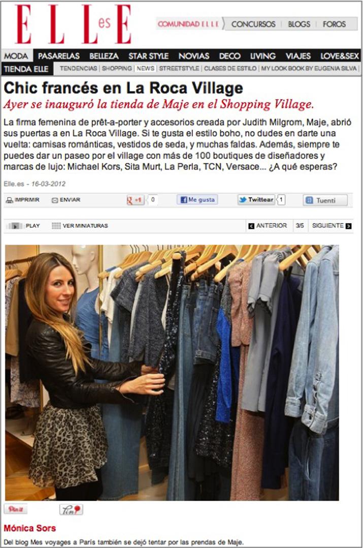 Uno de los mejores blogs de moda de España en la inauguración de la nueva tienda Maje, en La Roca Village, Barcelona.