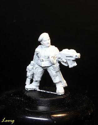 Sargento comando de choque de la Guardia Imperial de Cadia
