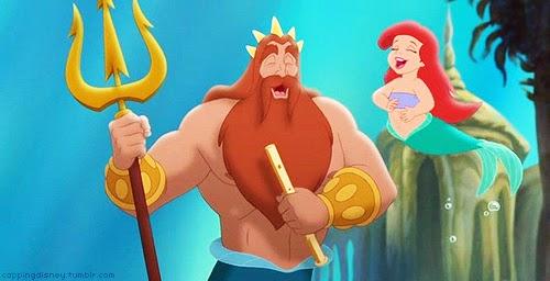 Ariel King Triton The Little Mermaid 3 2008 animatedfilmreviews.filminspector.com