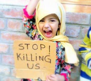 Criança palestina: parem de nos matar