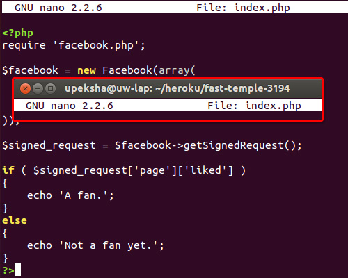 facebook app index file