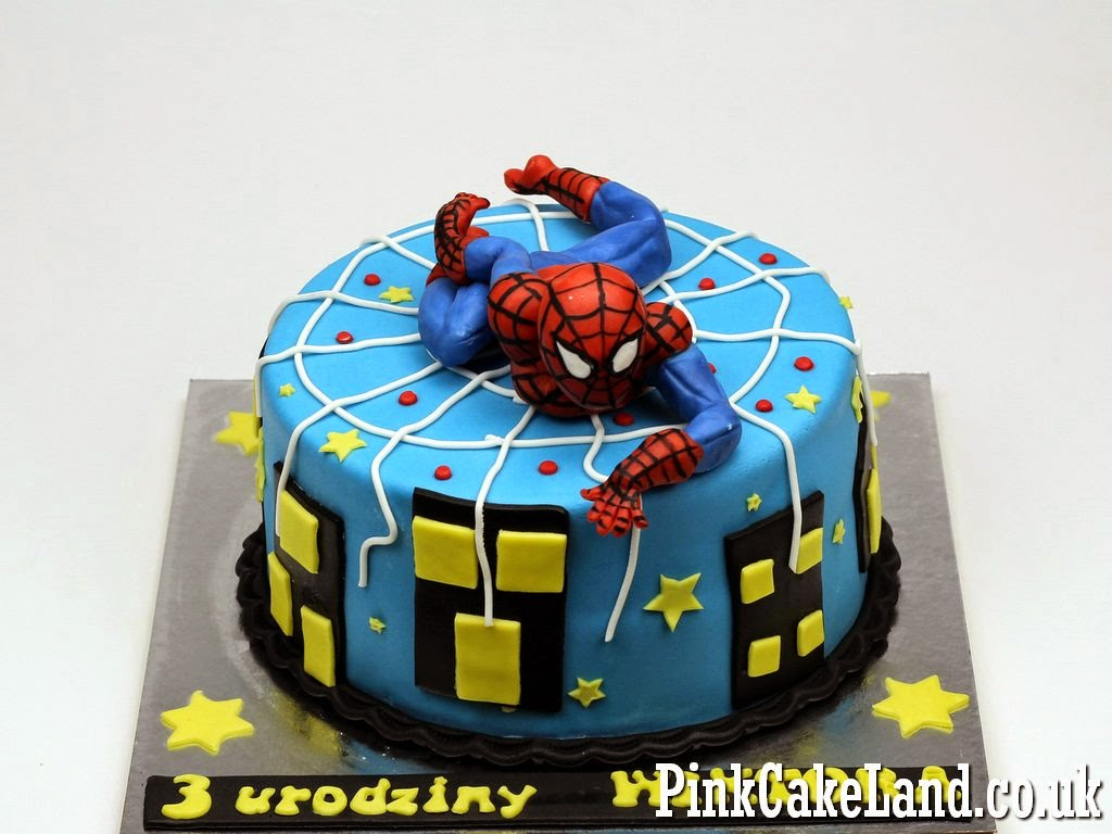 Spiderman Birthday Cake in Epsom