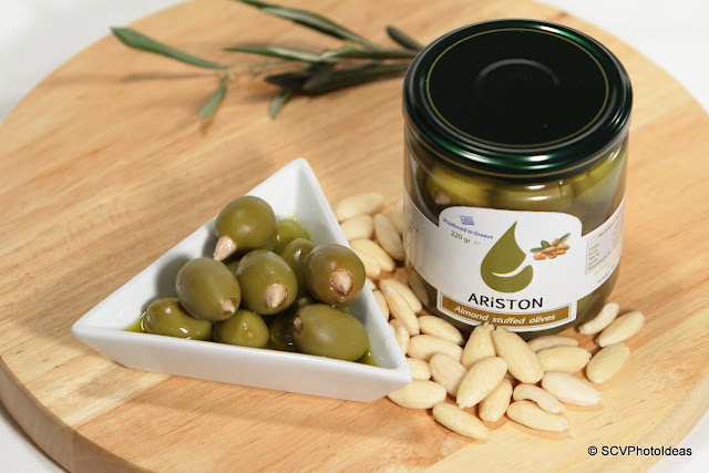 Ariston almond stuffed green olives