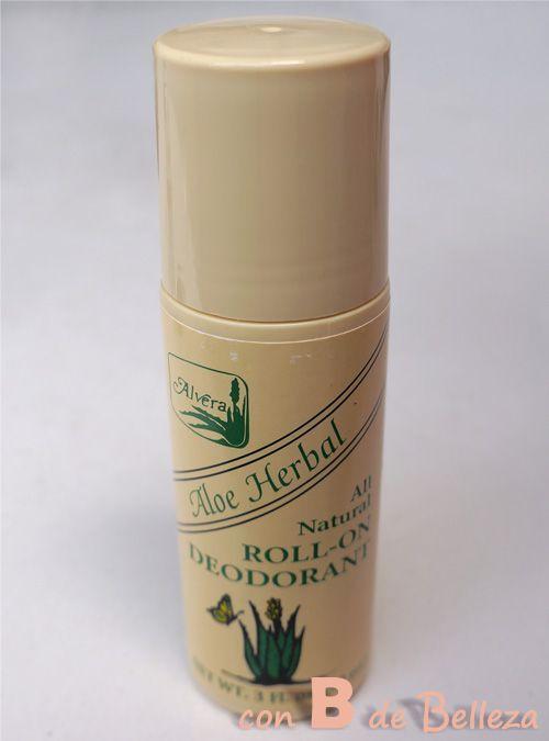 Desodorante natural con aloe vera