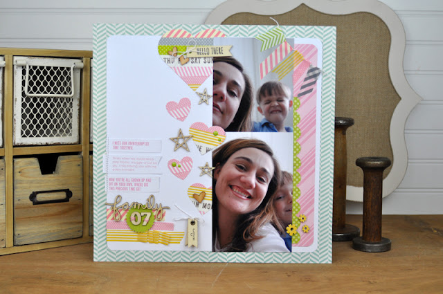 Product Playground: #scrapbooking video class on how to use wood veneer and washi tape on a layout. http://www.bigpictureclasses.com/classes/product-playground-washi-veneer