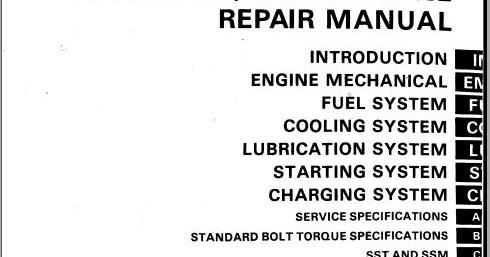 Toyota 2h12h T Engine Repair Manual