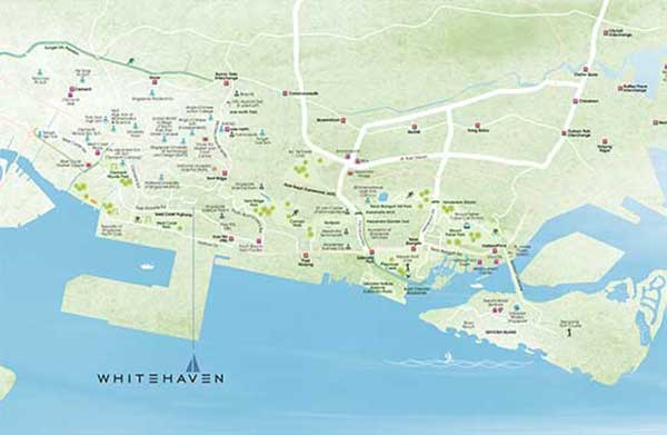Whitehaven Location Map
