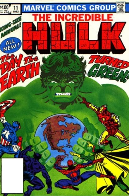 1981-84 - incredible hulk annuals