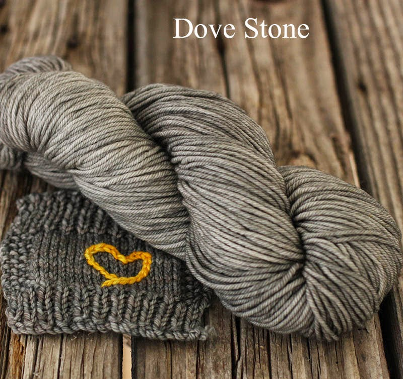 grey yarn: Dove Stone from Fyberspates