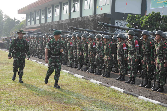 Uji Siap Tempur (UST) Tingkat Kompi Yankav-4/Tank Kodam III/Siliwangi di Mako Yonkav-4/Tank Jalan Salak Bandung