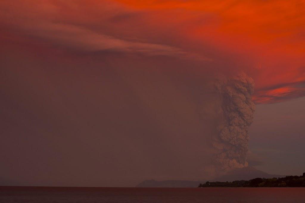 vulkán, vulkánkitörés, Chile, Calbuco vulkán, természeti jelenség, Calbuco volcano