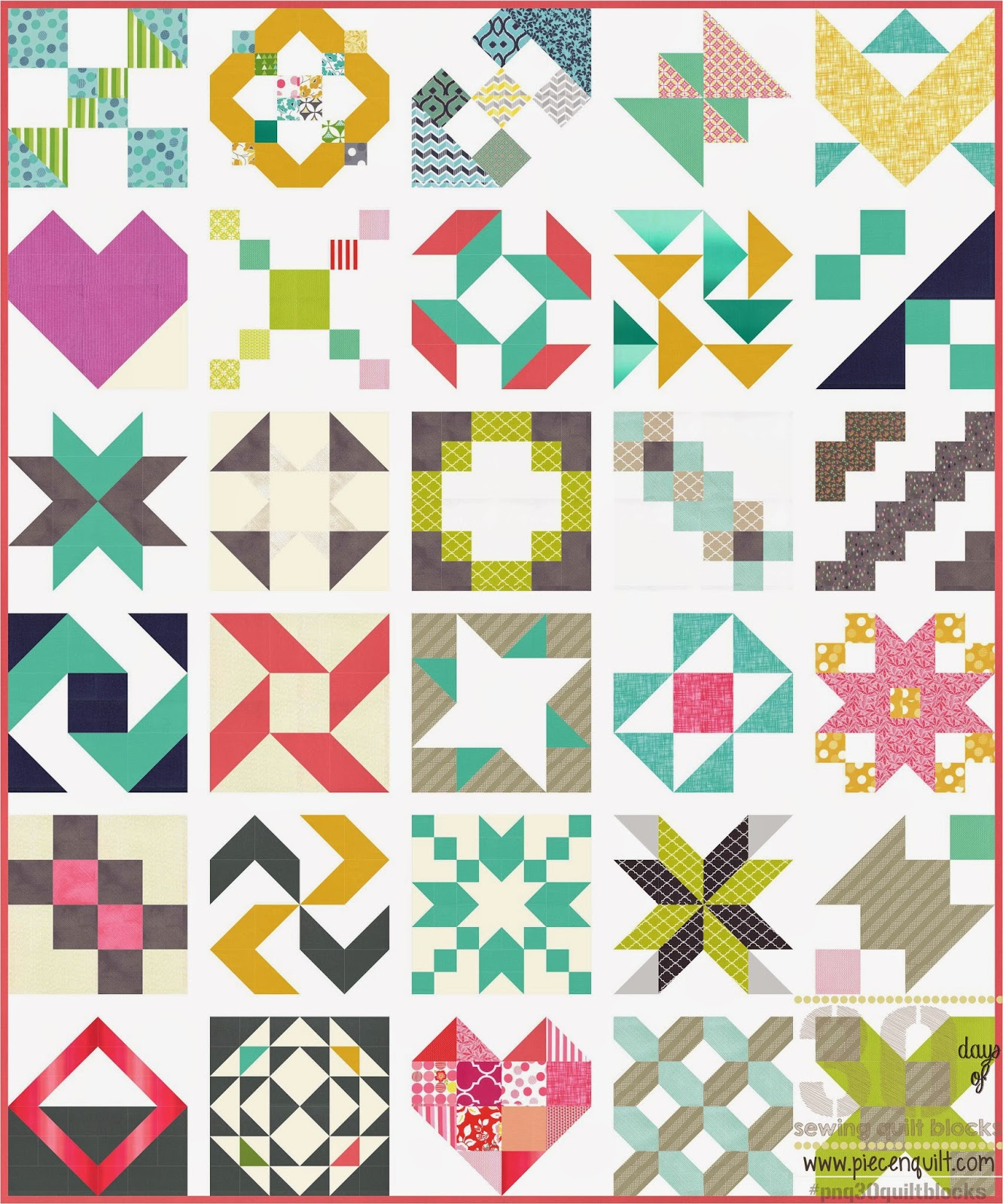 Piece N Quilt: 30 Days of Sewing Quilt Blocks - A Sampler ...