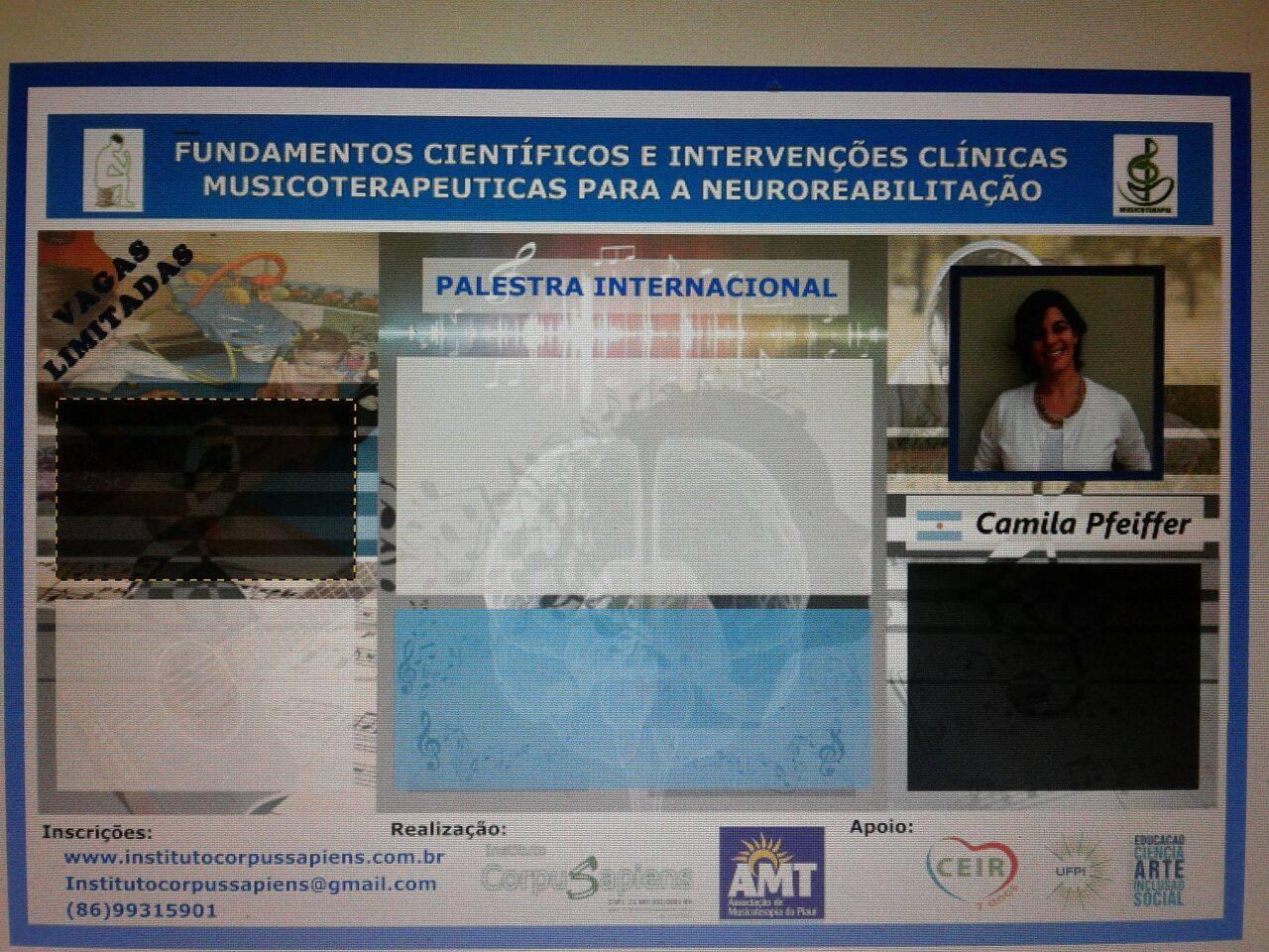CURSO MUSICOTERAPIA EM NEUROREABILITAÇÃO- TERESINA -PIAUÍ- BRASIL