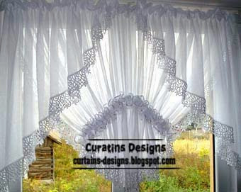 Unique light white curtains designs for kitchen window decoration ...
