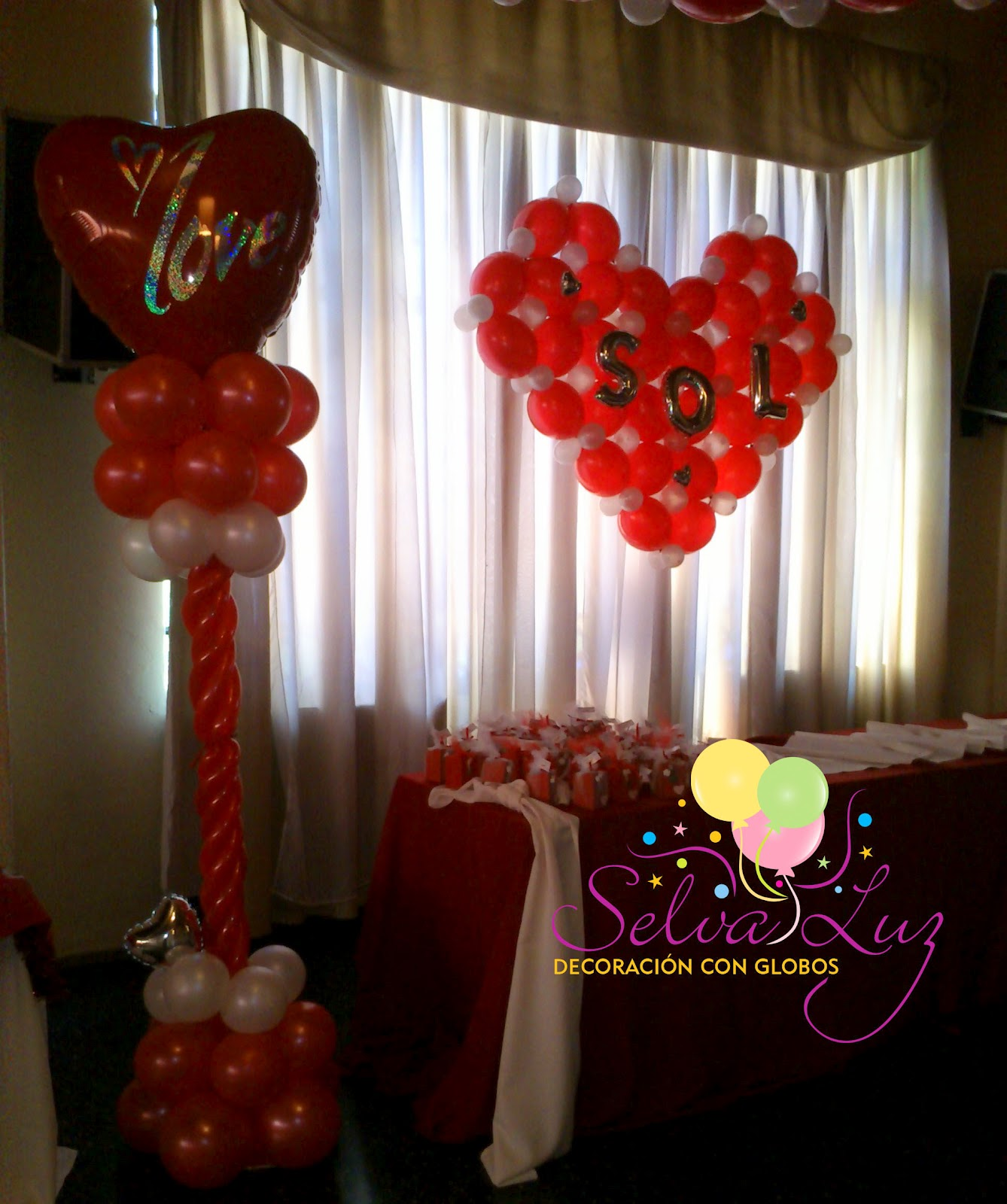 Selva luz decoraci n con globos buenos aires argentina for Decoracion con globos 50 anos