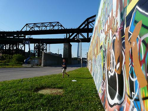 Siddhartha In St Louis Trevor Siddhartha Graffiti Art By River