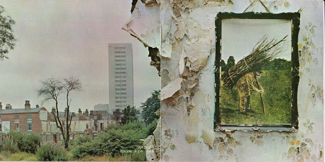 Frente e verso da capa do álbum Led Zeppelin IV