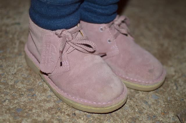Clarks Girls Desert Boots Vintage Pink