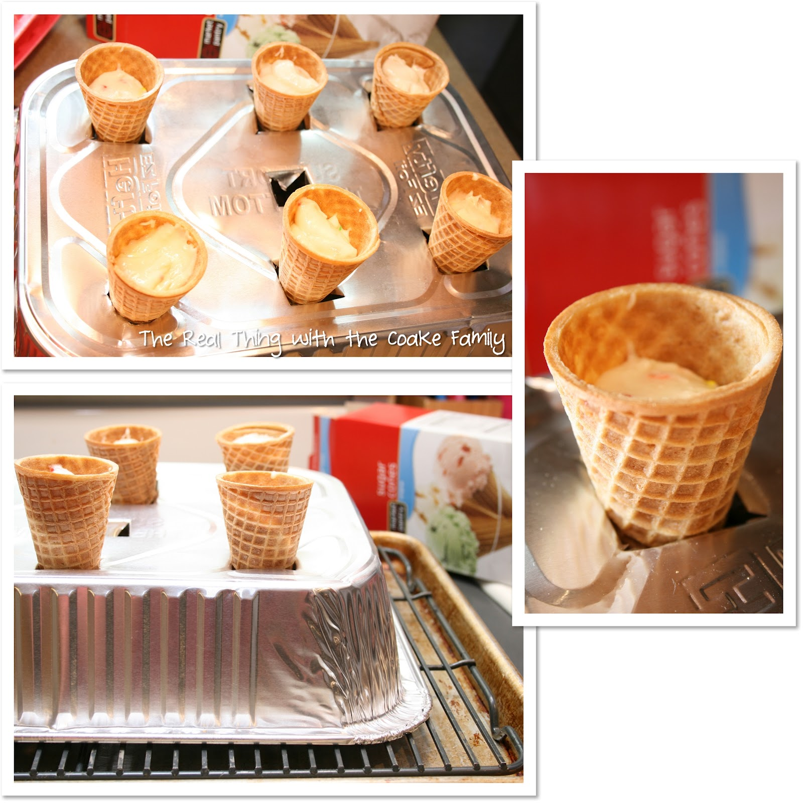 How to bake cupcakes in an ice cream cone...the easy way! #Recipe # ...