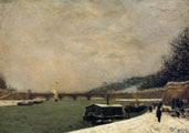 Paul Gauguin (27 años) - El Sena en el puente de Jena (1875)