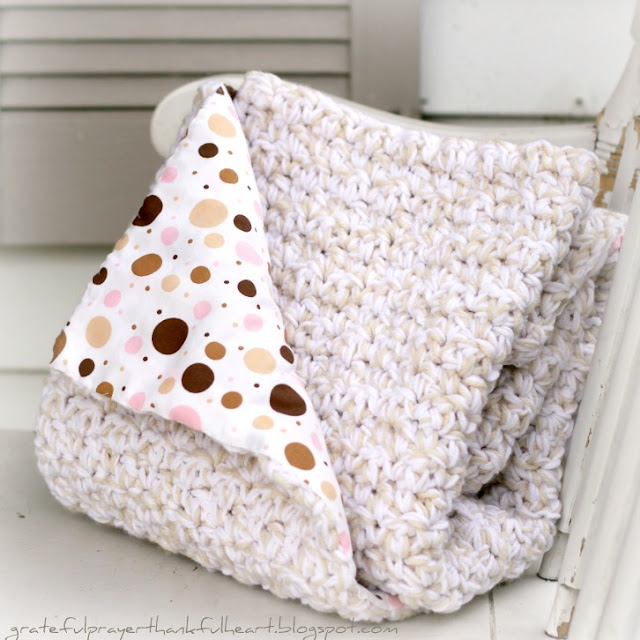 Baby blankets with satin trim