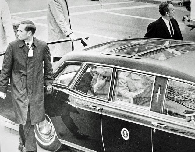 President Nixon Secret Service 1/20/69: first inaugural parade