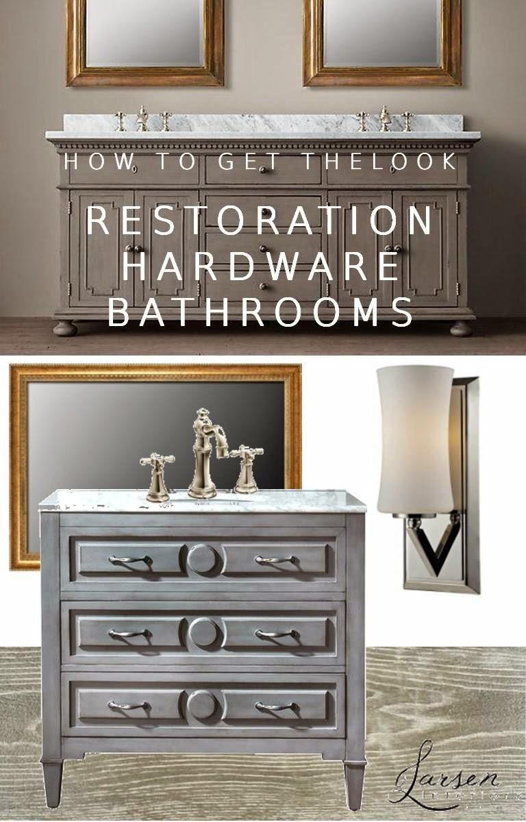 Restoration hardware bathroom lighting - How To Get The Look Restoration Hardware Bathrooms